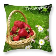 Happy Thanksgiving Card Throw Pillow
