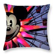 Happy Times Throw Pillow by Camille Lopez
