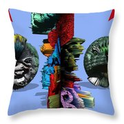 Happy Times In Wonderland Throw Pillow