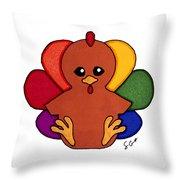 Happy Turkey Day Throw Pillow