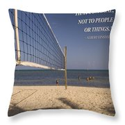 Happy Volleyball Goal Throw Pillow