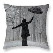 Happy Woman Throw Pillow
