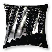 Hapu'u Fern Silhouette Throw Pillow
