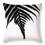 Hapu'u Frond Leaf Silhouette Throw Pillow