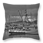 Harbor And Marina Monterey 2 Throw Pillow