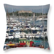 Harbor Antibes  Cote D'azur Throw Pillow