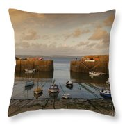 Harbor At Dusk Throw Pillow by Pixel Chimp