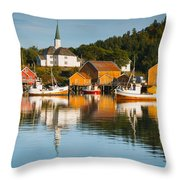 Harbor At Rest Throw Pillow