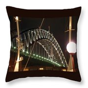 Harbor Bridge Throw Pillow