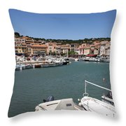 Harbor Cassis Throw Pillow