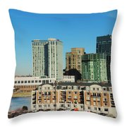 Harbor East Complex In Baltimore From Federal Hill Throw Pillow