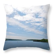 Harbor Entrance Throw Pillow