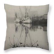 Harbor Fog No.4 Throw Pillow