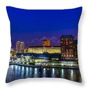 Harbor Island Nightlights Throw Pillow by Marvin Spates