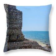 Harbor Island Ruins 1 Throw Pillow