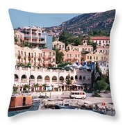 Harbor, Kalkan, Turkey Throw Pillow