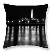 Harbor Lighthouse Throw Pillow by James Barber