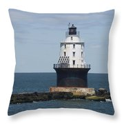 Harbor Of Refuge Lighthouse IIi Throw Pillow