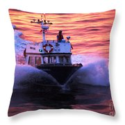 Harbor Pilot Throw Pillow