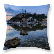 Harbor Reflection Throw Pillow