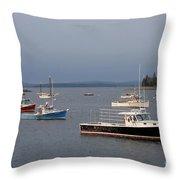 Harbor Scene I - Maine Throw Pillow