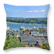 Harbor Springs Michigan Throw Pillow by Bill Gallagher