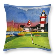 Harbour Town 18th Sc Throw Pillow