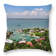 Harbor Town 3 In Hilton Head Throw Pillow