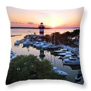 Harbor Town 4 In Hilton Head Throw Pillow