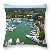 Harbor Town 6 In Hilton Head Throw Pillow
