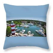 Harbor Town 7 In Hilton Head Throw Pillow