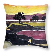Harbour Town Dusk Sc Throw Pillow