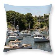 Harbor Views Throw Pillow