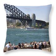 Harbour Bridge Throw Pillow