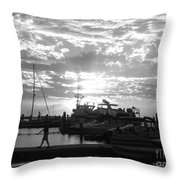 Harbour Clouds Throw Pillow