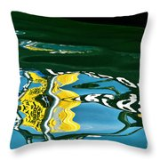 Harbour Master Abstract Throw Pillow