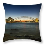 Harbour Night Throw Pillow