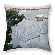 Port Mahon View With A Villa Called Venecia - Harbour Of My Dreams Throw Pillow