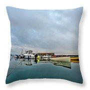 Harbour Overview 2 - Lyme Regis Throw Pillow
