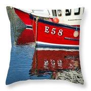 Harbour Reds Throw Pillow