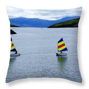 Harbour Sailing Throw Pillow