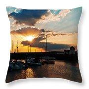 Harbour Sunset Throw Pillow