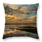Harbour  Sunset Throw Pillow by Rod Sterling