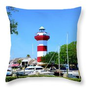 Harbour Town Lighthouse Throw Pillow