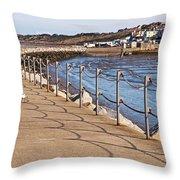 Harbour Wall Promenade Throw Pillow