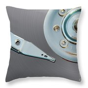 Hard Disc Throw Pillow