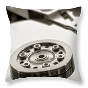 Hard Drive Throw Pillow