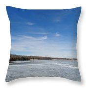 Hard Frozen Lake Throw Pillow