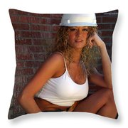 Hard Hat Throw Pillow