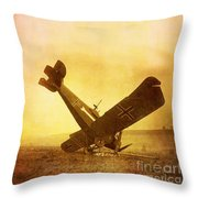 Hard Landing Throw Pillow